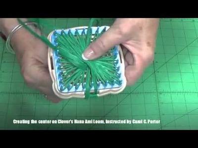 Creating the Center on the Hana Ami Loom