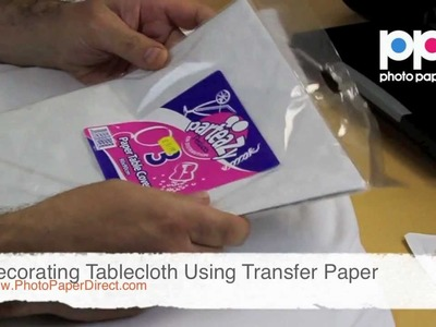 Decorating Tablecloth Using Transfer Paper