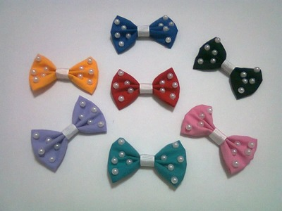 DIY : #16 Cute Bows With Pearl ♥
