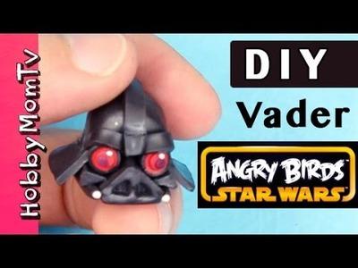 DIY Make TINY Darth Vader Star Wars | Polymer Clay Keychain Charm by HobbyMomTV