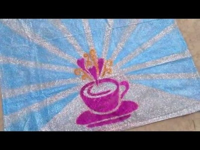 HOW TO: Glitter a floor cloth
