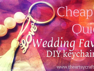 How to make a wedding favor keychain