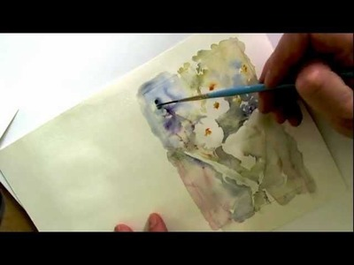 How to paint flowers with watercolours