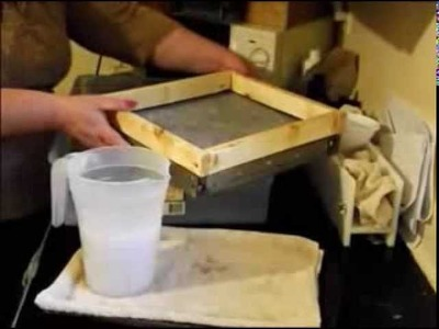 Making Handmade Paper With Natures Garden