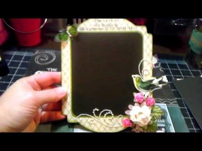 Mini chalkboard project using DCWVchalkboard paper