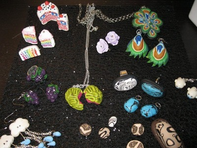 MORE Jewelry & Random Charms | Polymer Clay Creations Update #4