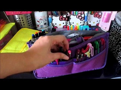 My Filofax Mini Haul #5 for 2014: Bag Organizers & Craft Supplies