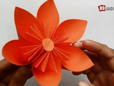 Origami Paper Folding Instructions | Kusudama Flower | Work #01