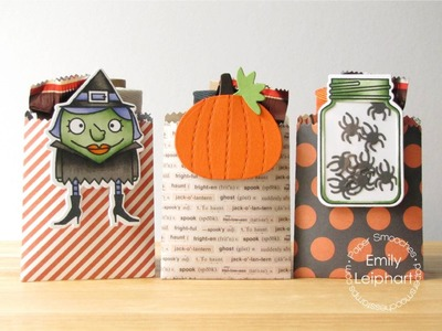 {Paper Smooches} Halloween Treat Bags with Removable Bookmarks + GIVEAWAY!
