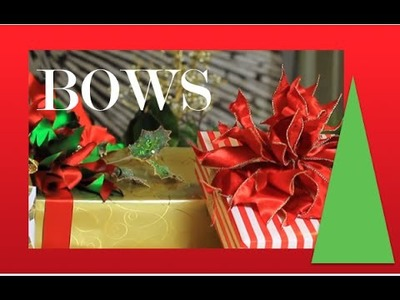 Poinsettia Bow - How To Make Beautiful Bows - step by step demonstration