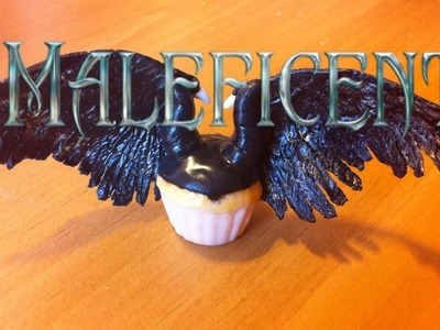 Polymer Clay Maleficent Inspired Cupcake: Part 7 Cupcake Series