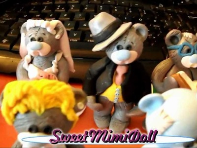 """Polymer Clay """" Me to You"""" Teddy Bear's Collection"""