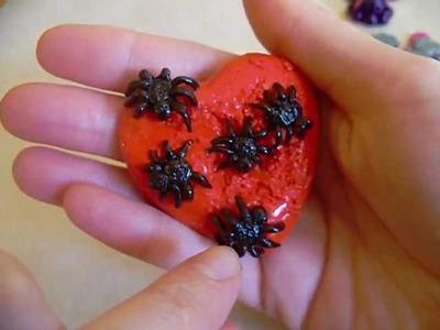 Polymer Clay Spider Heart.Shark.Octopus