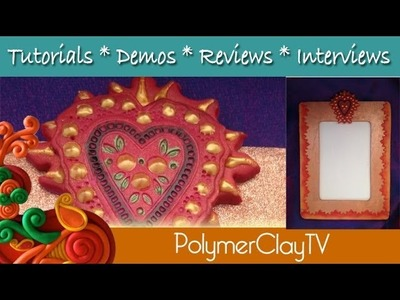 Polymer Clay Tutorial Learn how to make a fun flaming heart picture frame