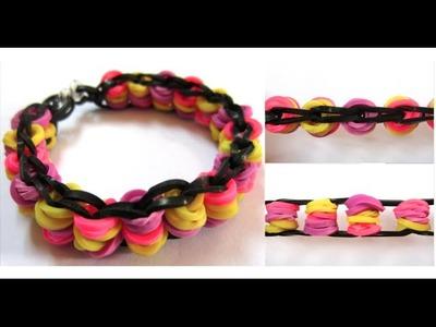 Rainbow Loom Bike Chain Bracelet on Mini Loom