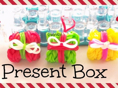 Rainbow Loom: Present. Gift Box 3D Charm - How To | Christmas.Holiday.Ornament