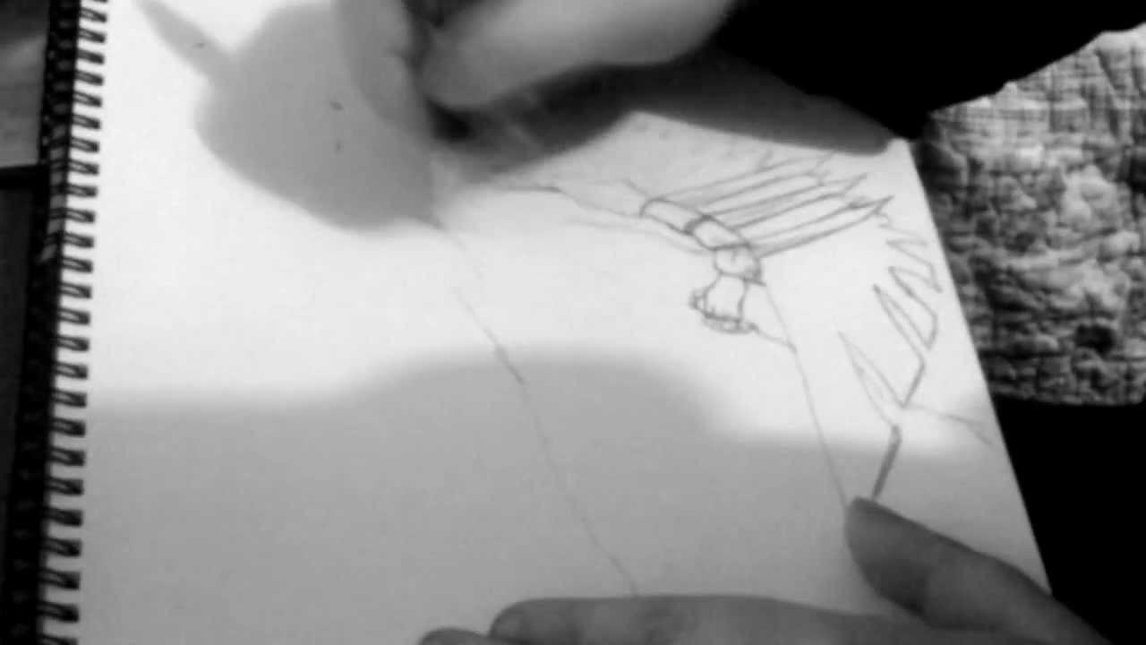 Runescape Art Armadyl-Kree'arra - Pencil on paper