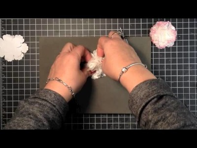 Stampin' Up! Video Tutorial Creped Filter Paper Flowers