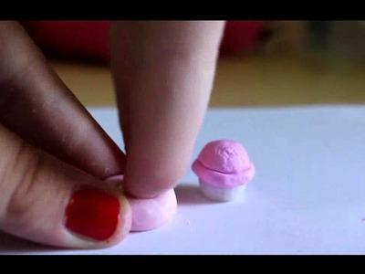 TUTORIAL Polymer Clay. FIMO: Coppetta Gelato. Ice Cream Cup