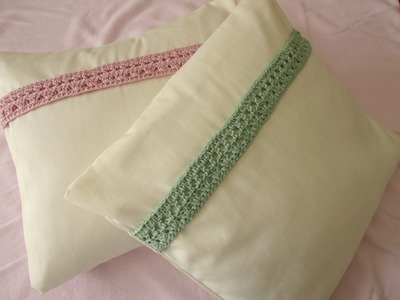 VERY EASY pretty crochet cushion. pillow decoration