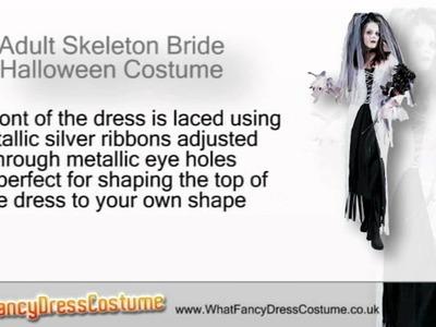 Adult Skeleton Bride Halloween Costume