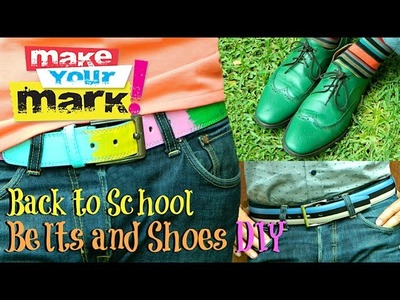 Back to School Belt and Shoes Makeover