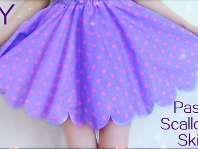 Back to School DIY : Pastel  Scalloped Skirt