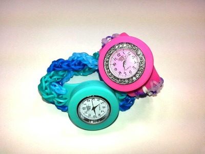 Bling Loomey Time Watch Review. Friendship Bracelet Tutorial by feelinspiffy (Rainbow Loom)
