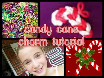 Candy Cane Rainbow Loom Charm Tutorial