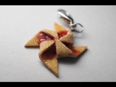 Cherry Pinwheel Cookie Tutorial, Miniature Food Tutorial, Polymer Clay