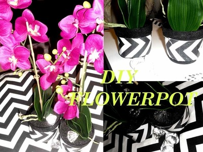 D.I.Y. FLOWER POT! [A BIT CHEVRON OBSESSED!!]