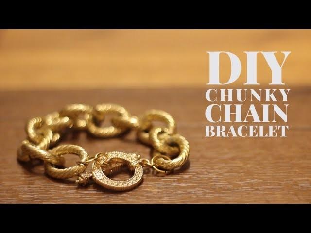DIY Chunky Chain Bracelet