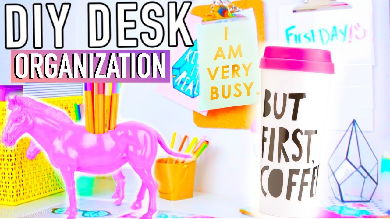 DIY Desk Decor & Organization + Accessories to make your Desk Cute!