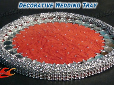 DIY HOW to Make  Decorative Wedding Tray - JK Wedding Craft 011
