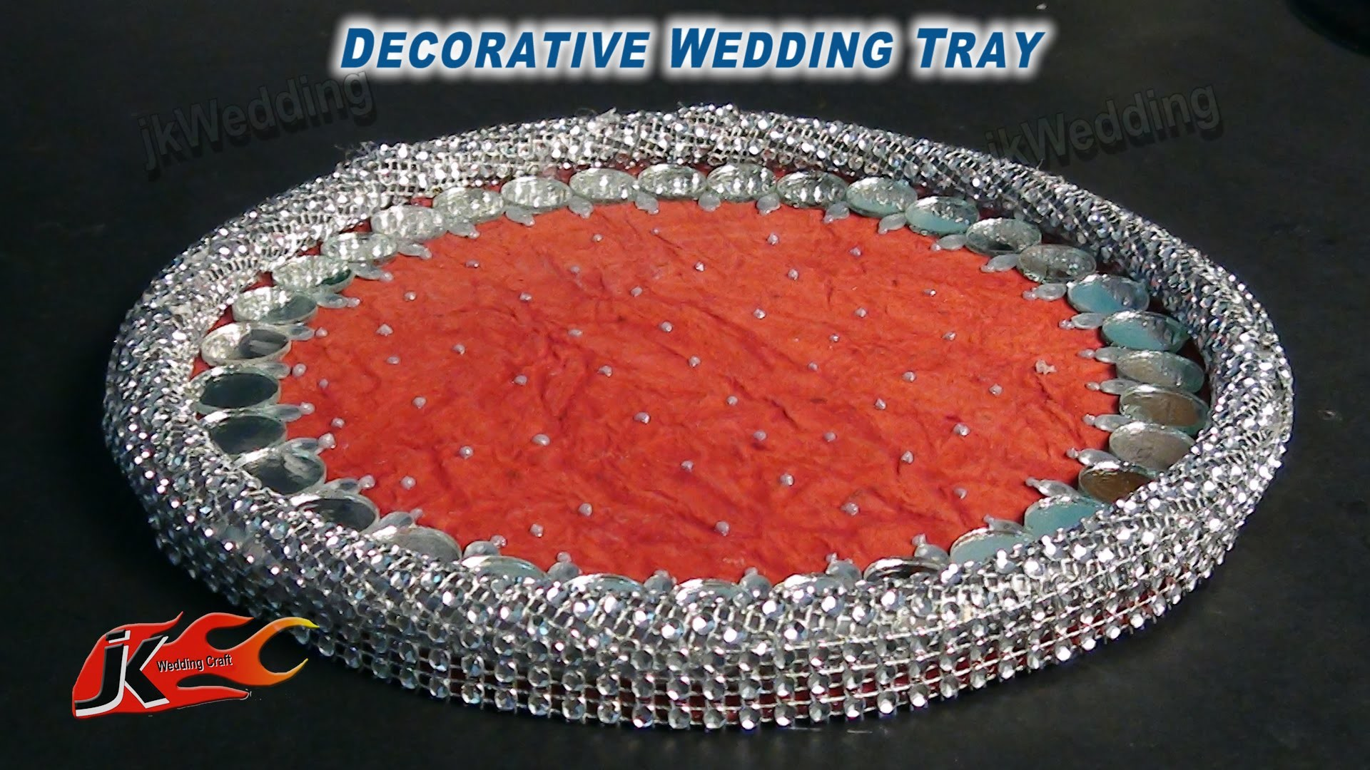 DIY HOW to Make  Decorative Wedding Tray - JK Wedding Craft 011