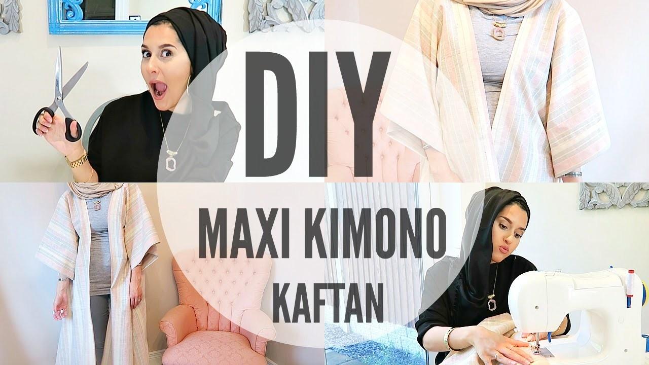 DIY | MAXI KIMONO KAFTAN. ABBAYA FOR BEGINNERS