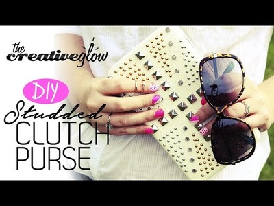 DIY Studded Clutch Purse - Snazz Up Your Outfit!