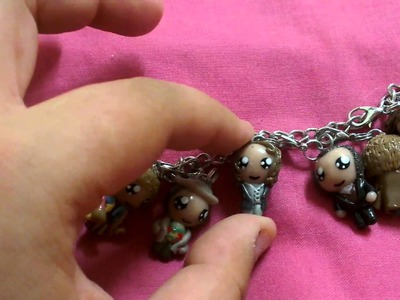 Doctor Who Charm Bracelet (polymer clay)