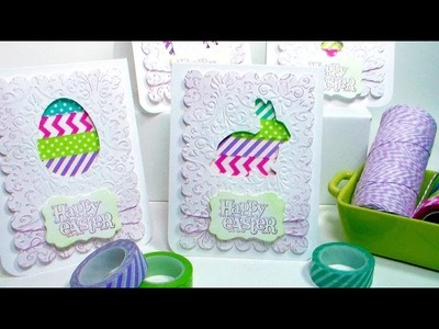 Easy Easter Window Cards with Free Templates!