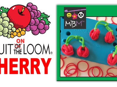 Fruit On the Rainbow Loom Charms - Cherry or Blueberry