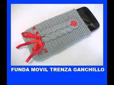 Funda movil trenzada a ganchillo - Capa telefone crochet