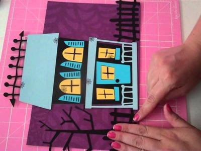 Halloween Home Decor sign. Scrappy Mom's Blog Hop 2011