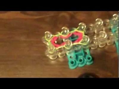 Hexafish Flower Charm-Rainbow Loom