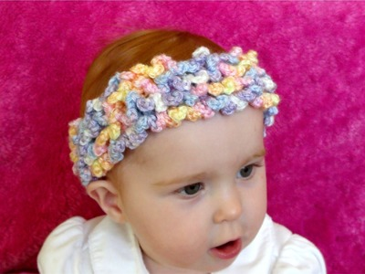 How to crochet a loopy, ruffle, frilly headband