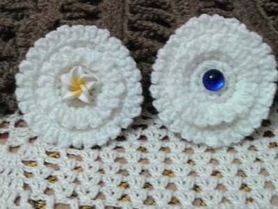 How to Crochet Flower Picot stitch - simple and attractive (Video Tutorial)