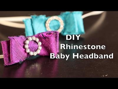 How To Make A Baby Headband | Rhinestone Buckle Bow