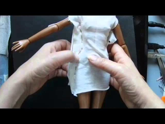 How to make a basic jersey dress sloper for a fashion doll