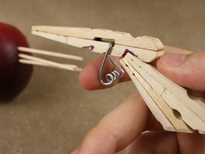 How to Make a Mini Gun - (Clothespin Pistol)