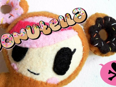 How to Make a tokidoki Donutella Felt Plush tutorial