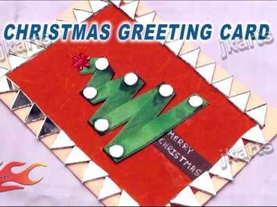 HOW TO: make Christmas Tree Greeting Card - JK Arts 177